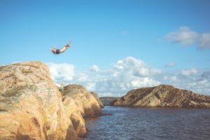 Sprong in het diepe